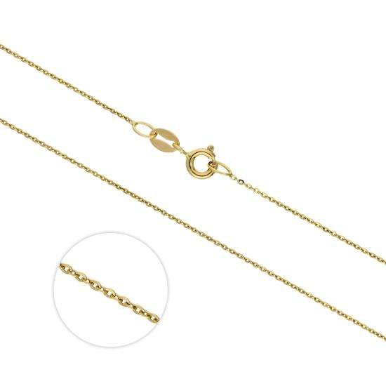 9ct Gold Extendable Hammered Trace 20 Inch Chain