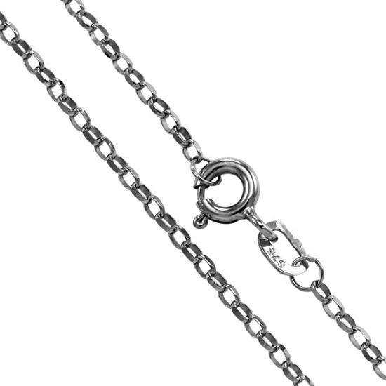 9ct White Gold Belcher Chain 16 - 20 Inches