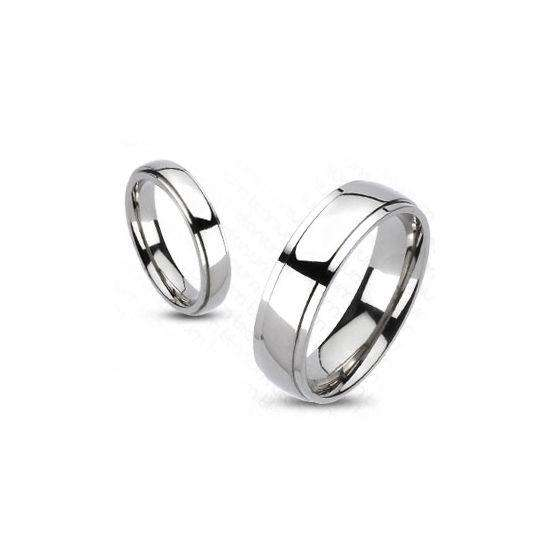 Titanium Bevelled Edge Band Ring