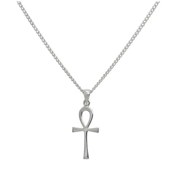 Large Sterling Silver Ankh Pendant Necklace 16 - 24 Inches