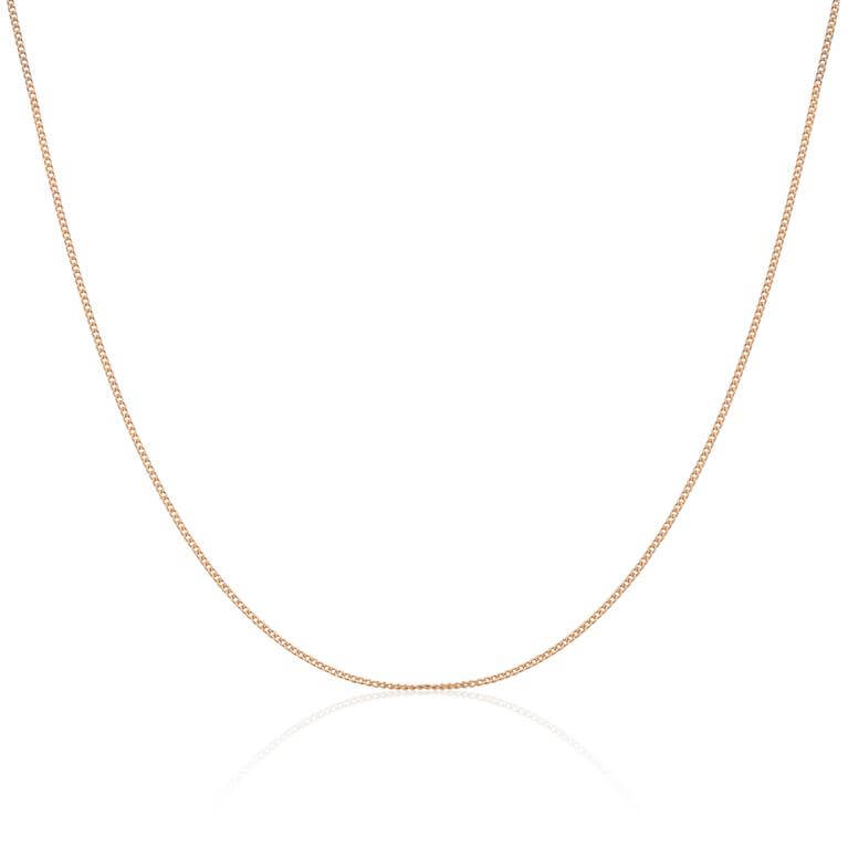 9ct Yellow Gold Convertible Diamond Cut Curb Chain