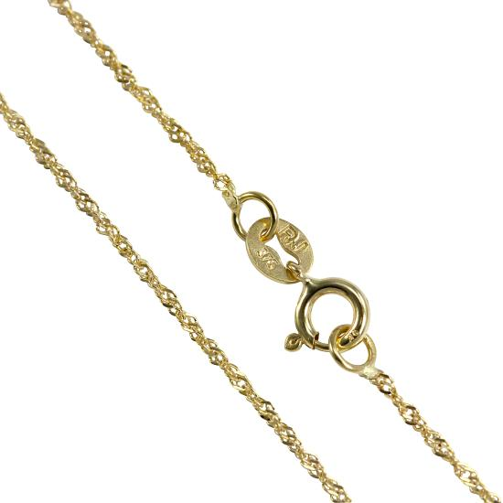 9ct Yellow Gold Singapore Chain 16 - 22 Inches