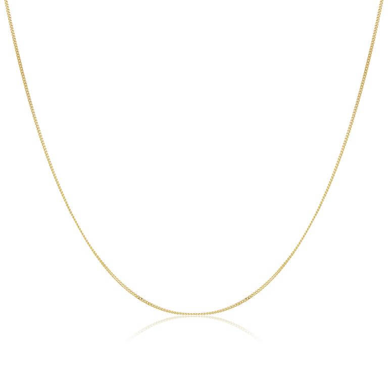 9ct Yellow Gold Diamond Cut Chain Necklace