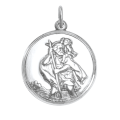 Sterling Silver St Christopher Pendant - Polished or Matt
