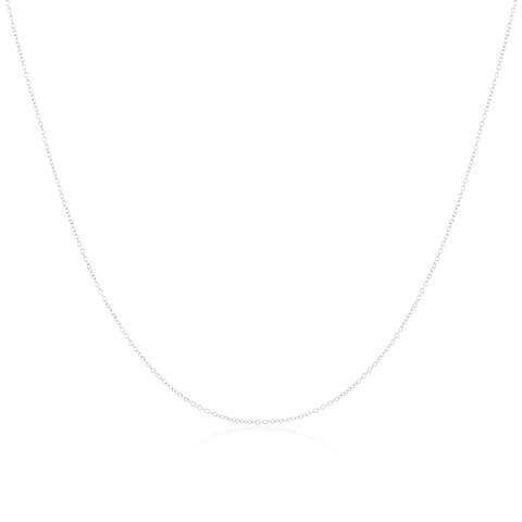 9ct White Gold Trace Chain 18 - 22 Inches