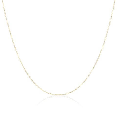 9ct Yellow Gold Trace Chain 16 - 18 Inches