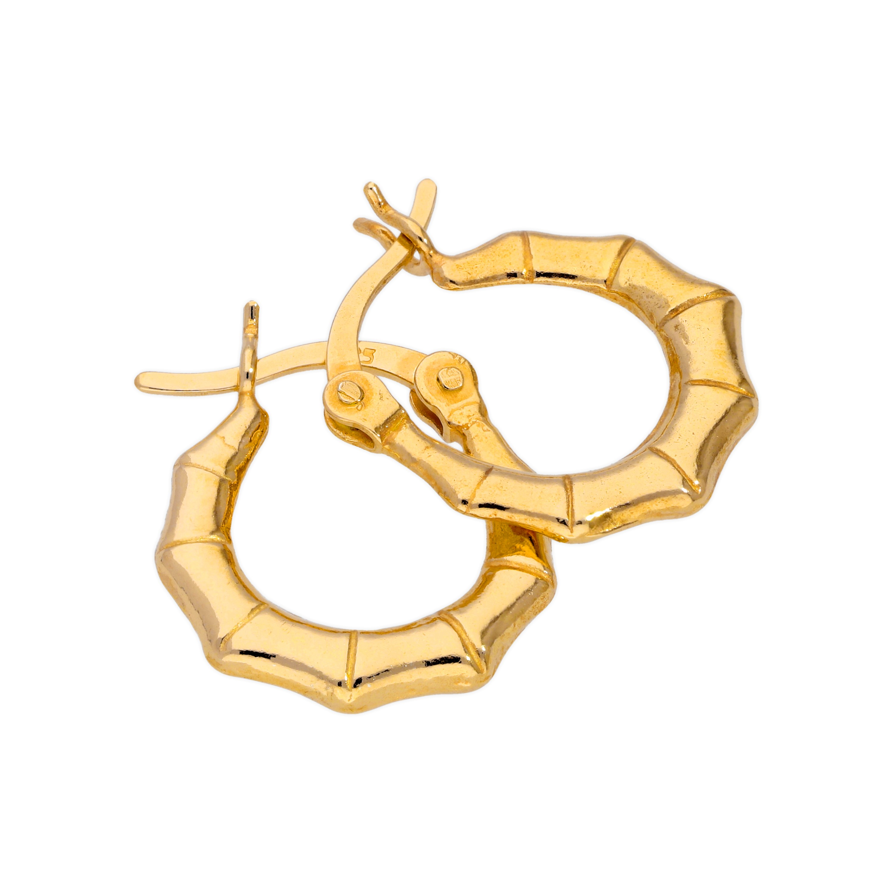 62f0bdbc9 Gold Plated Sterling Silver 13mm Hoop Creole Earrings 5057023173773 ...