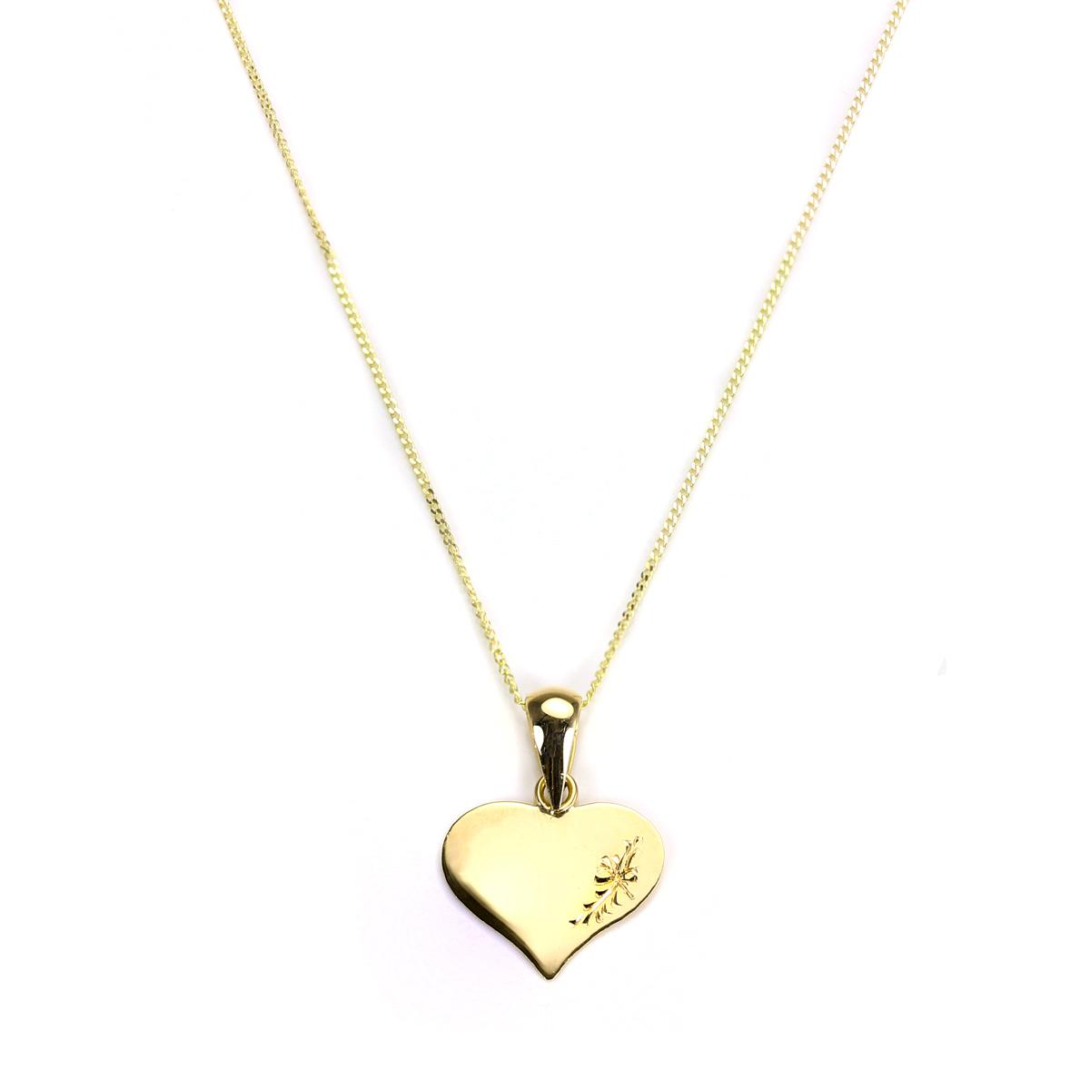9ct yellow gold engraved heart shaped pendant ebay item specifics aloadofball Gallery