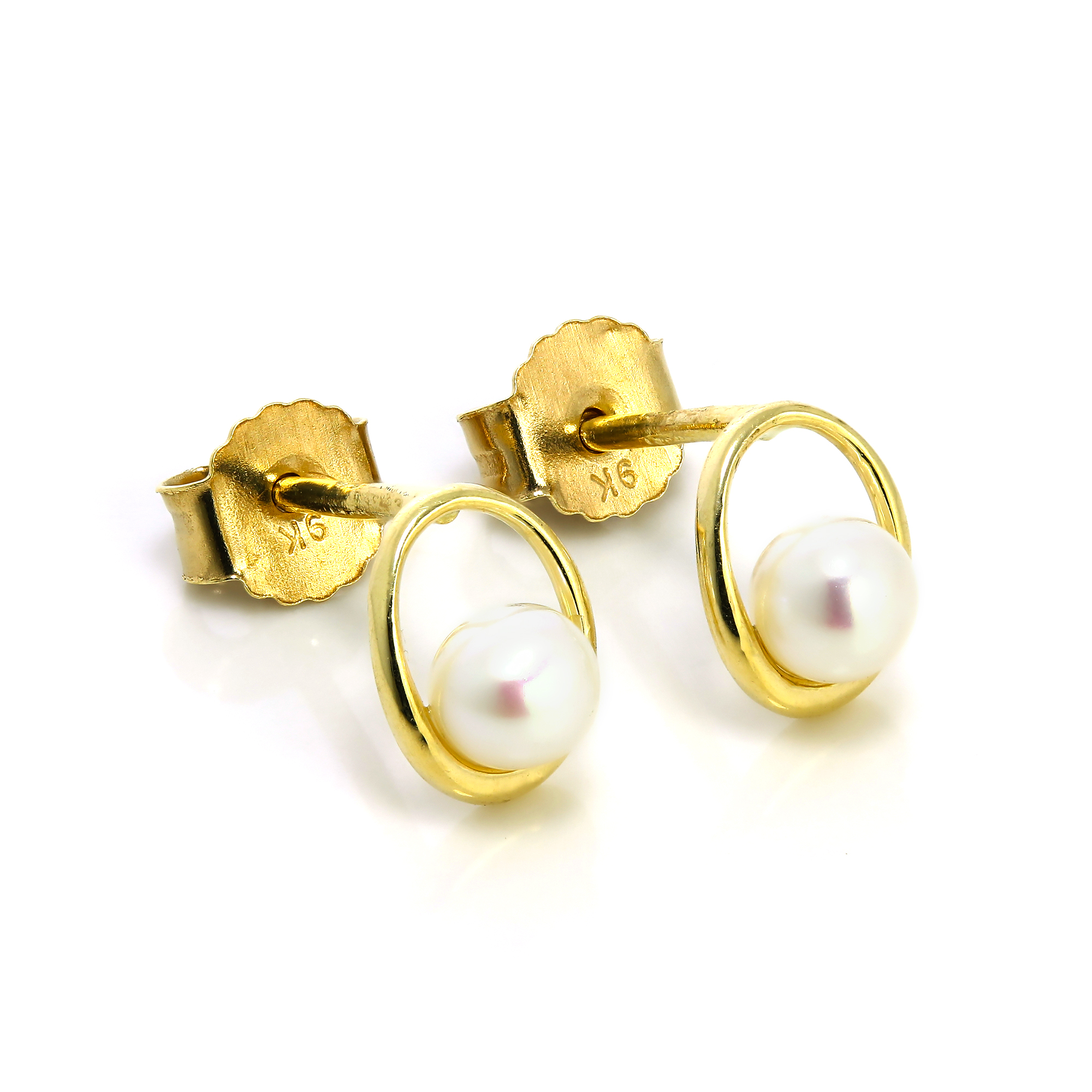 stud earrings gold and ferdinandsen jewelry pink view conch lyst shell annette pearl fullscreen