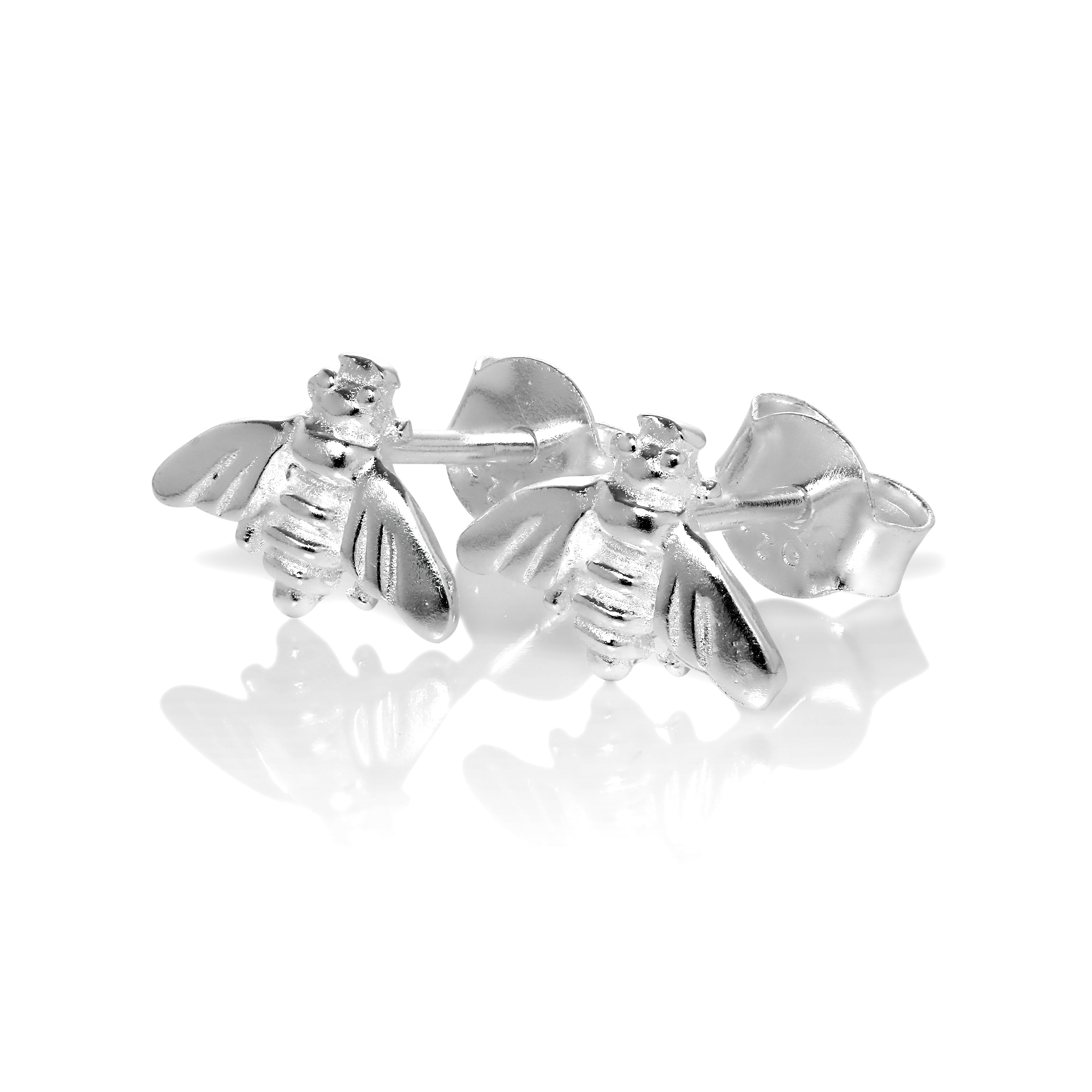 bee earrings bumble sterling product stud chz silver co jewellerybox uk