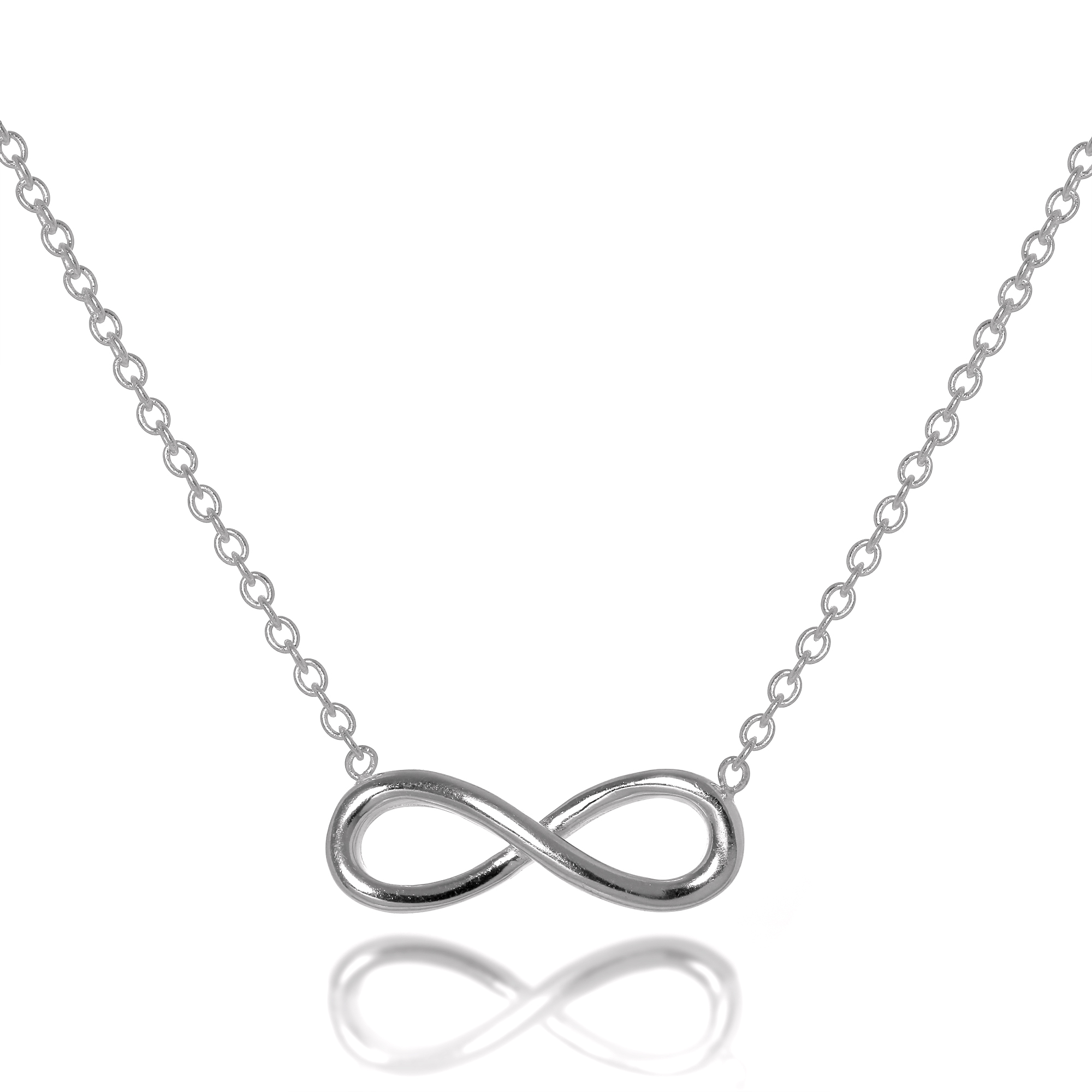 simply silver necklace necklaces jewellery infinity jon zoom sterling from