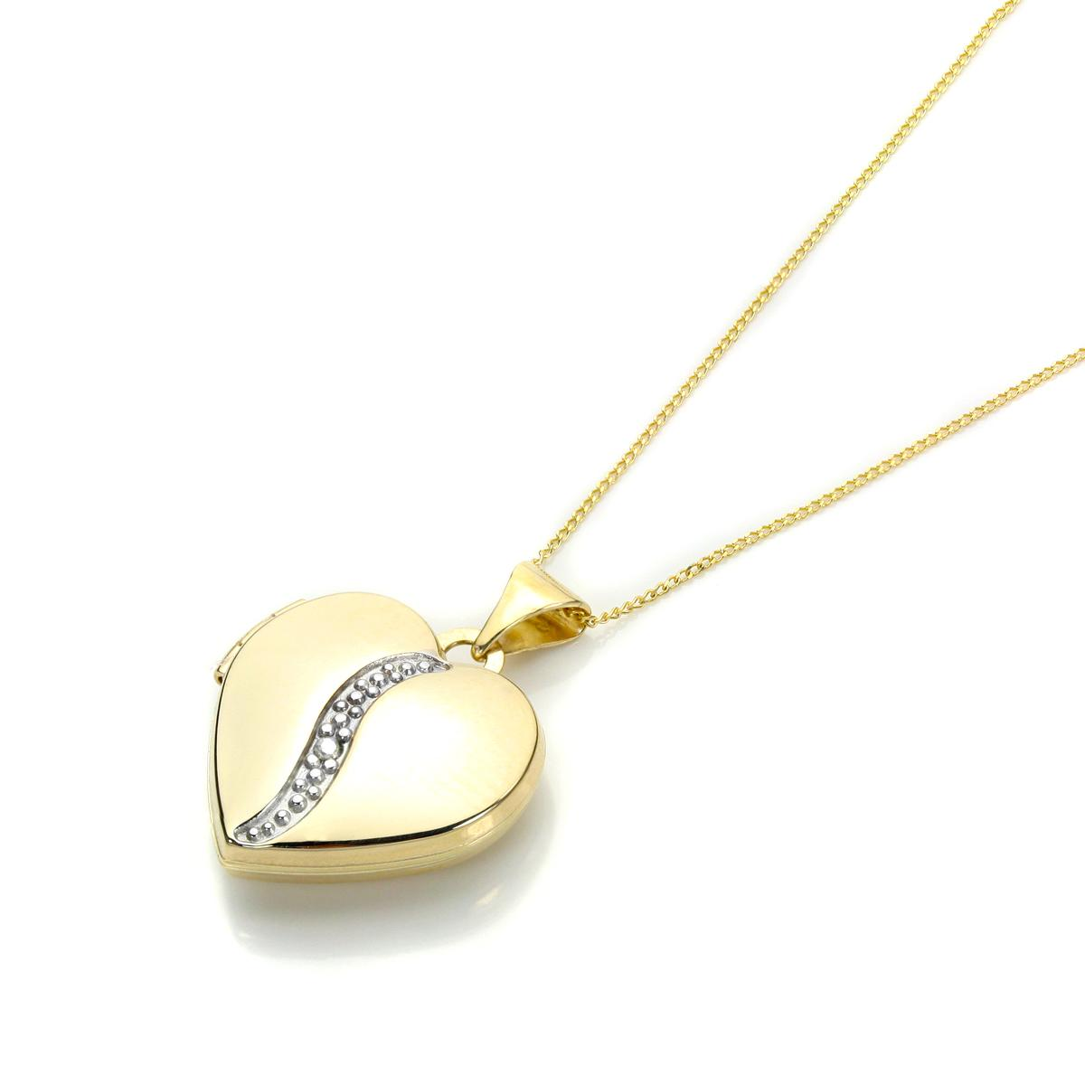 locket pendant beaverbrooks context p the large heart gold white