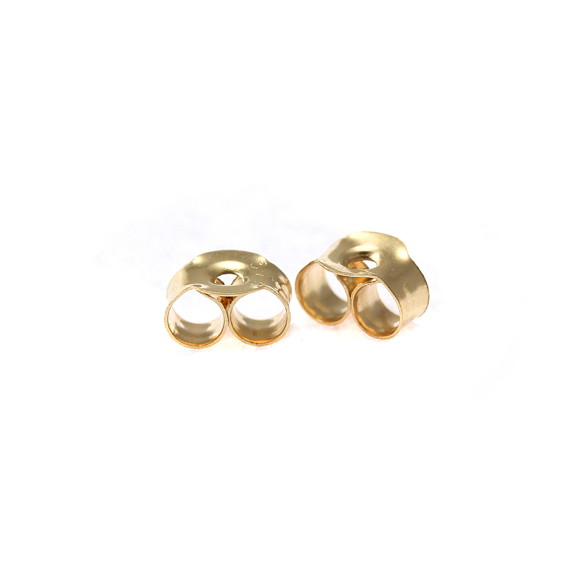 An image of 10 Pairs of 9ct Gold Butterfly Backs Scrolls for Stud Earrings 3mm