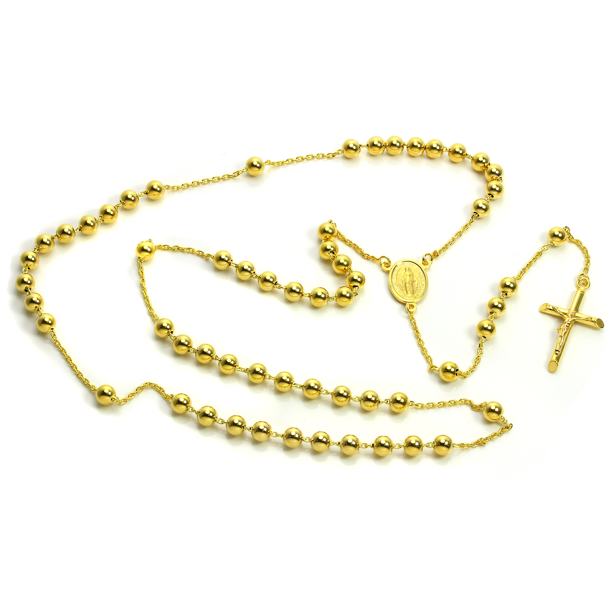 9ct Gold Heavy Rosary Bead Necklace Rosaries Prayer Beads ... 881141ad2
