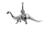 TheCharmWorks Sterling Silver 3D Brontosaurus Charm