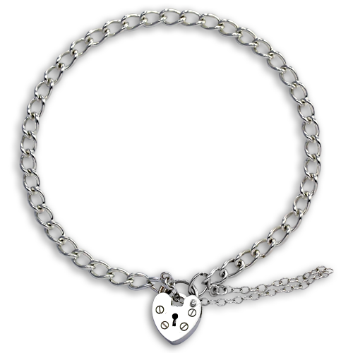 TheCharmWorks Sterling Silver Heart Clasp Charm Bracelet