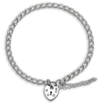 TheCharmWorks Sterling Silver Heart Clasp Charm Bracelet - 6 Inches