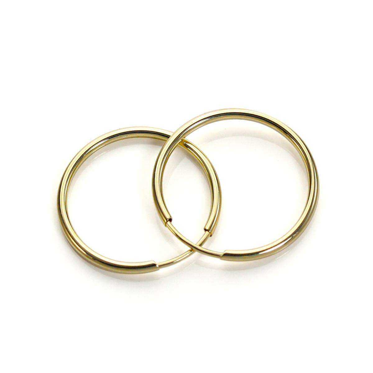 16 hoop earrings 9ct yellow gold plain 16mm hoop earrings jewellerybox co uk 535