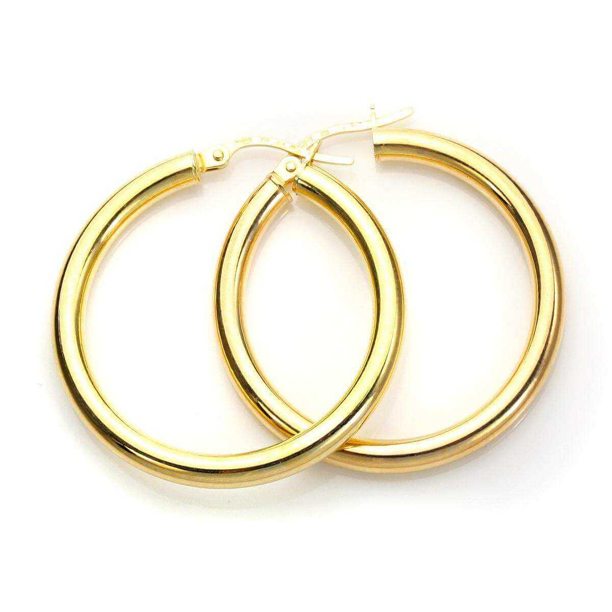 9ct Yellow Gold 25mm Creole Earrings