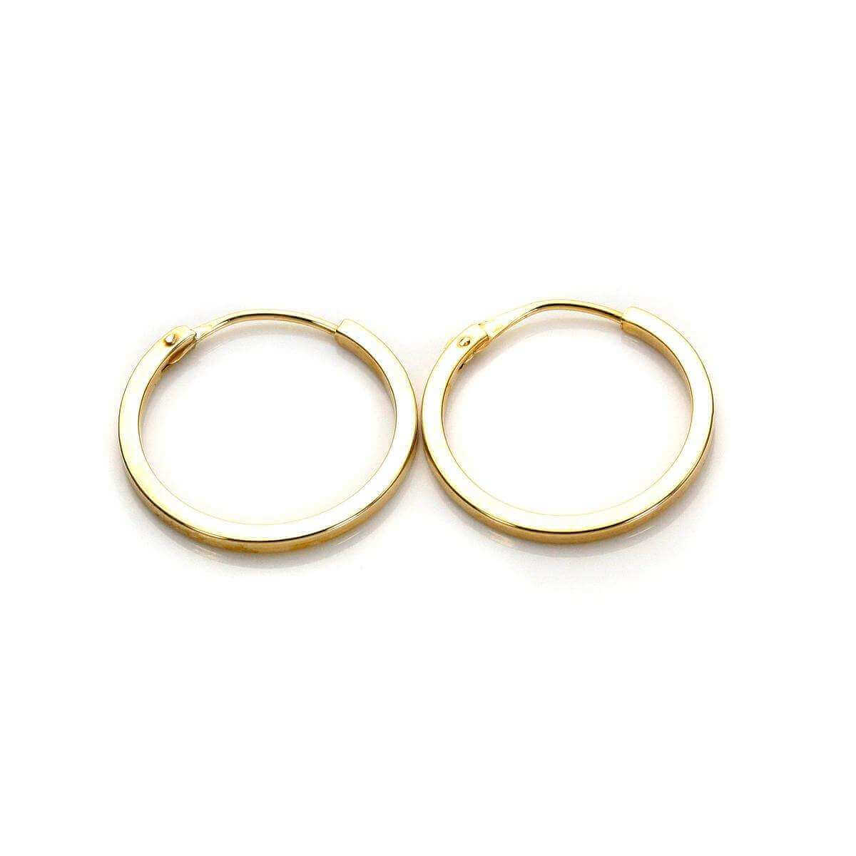 9ct Yellow Gold 12mm Square Hoop Earrings