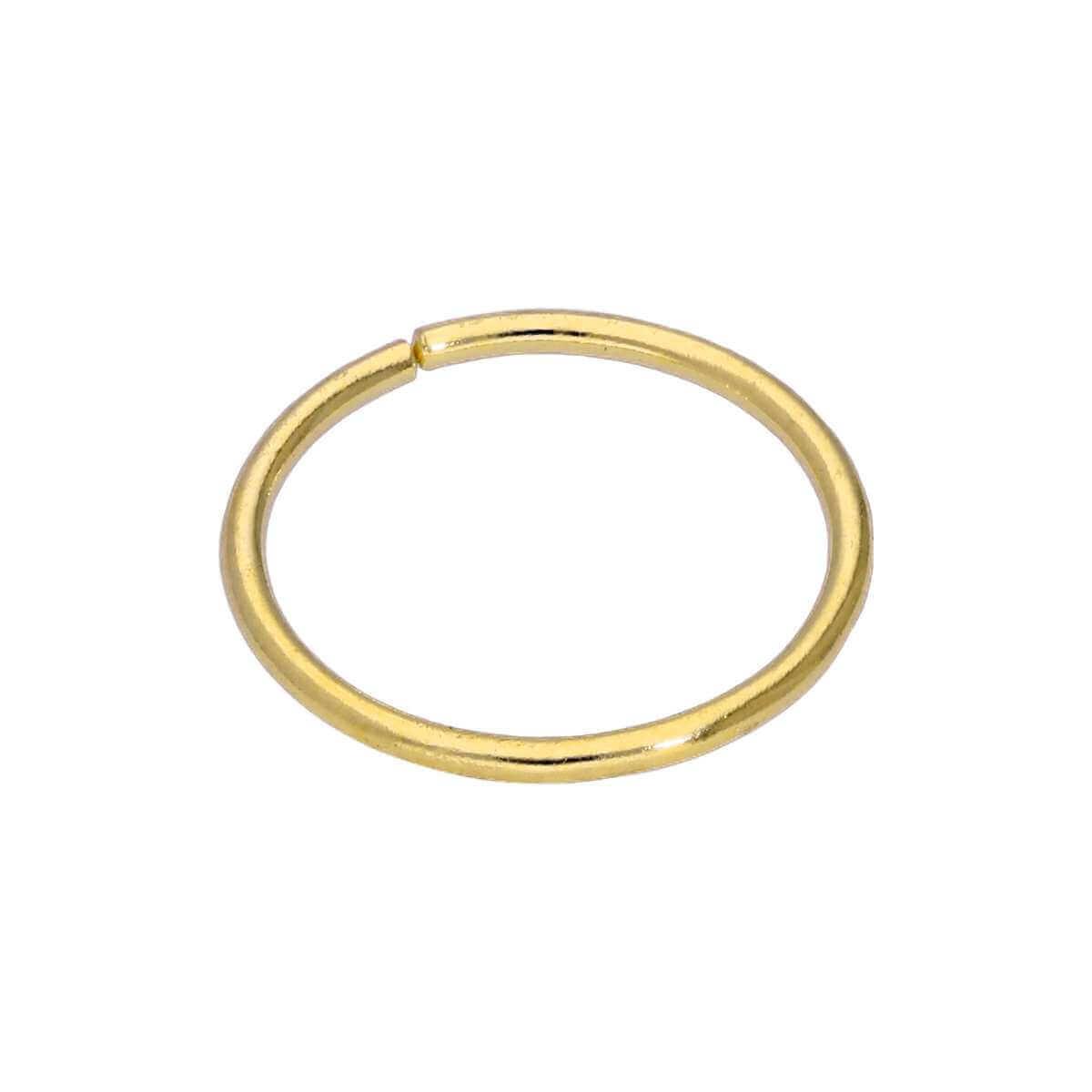 9ct Gold Plain 24Ga 6mm Nose Ring
