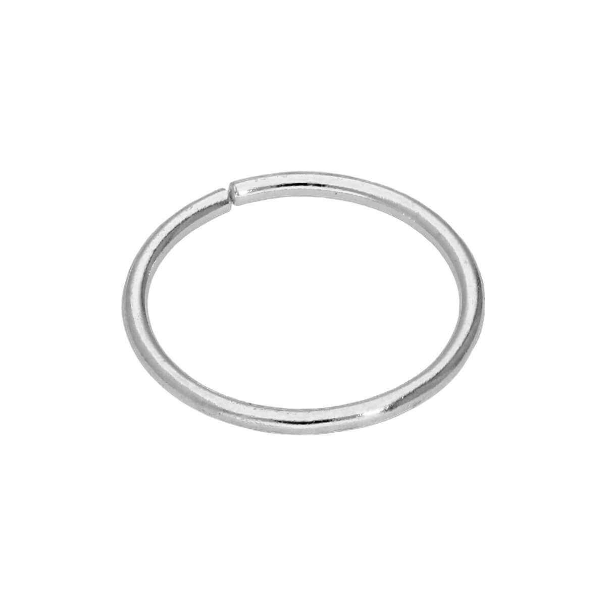 9ct White Gold 22Ga Plain 6mm Nose Ring