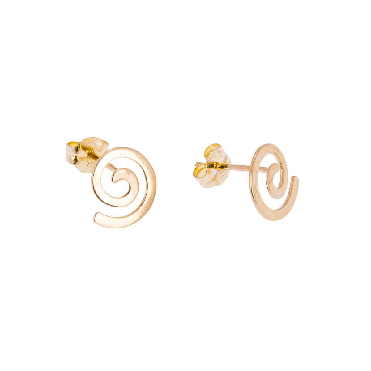9ct Gold Spiral Stud Earrings