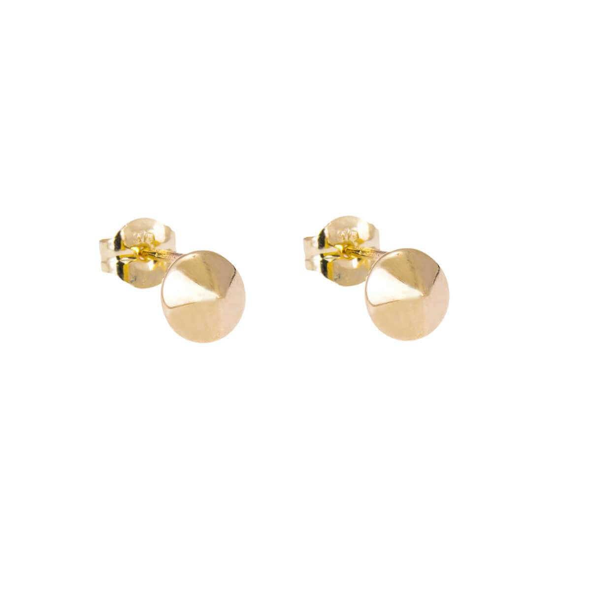 9ct Gold Spike Stud Earrings