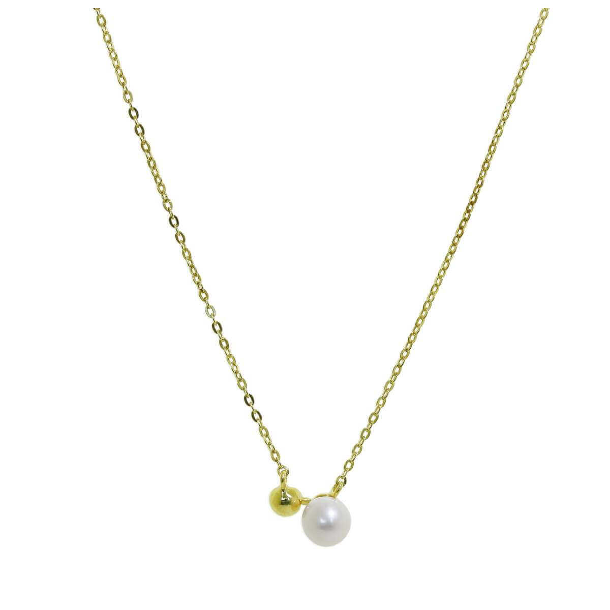 9ct Gold Ball Freshwater Pearl Necklace