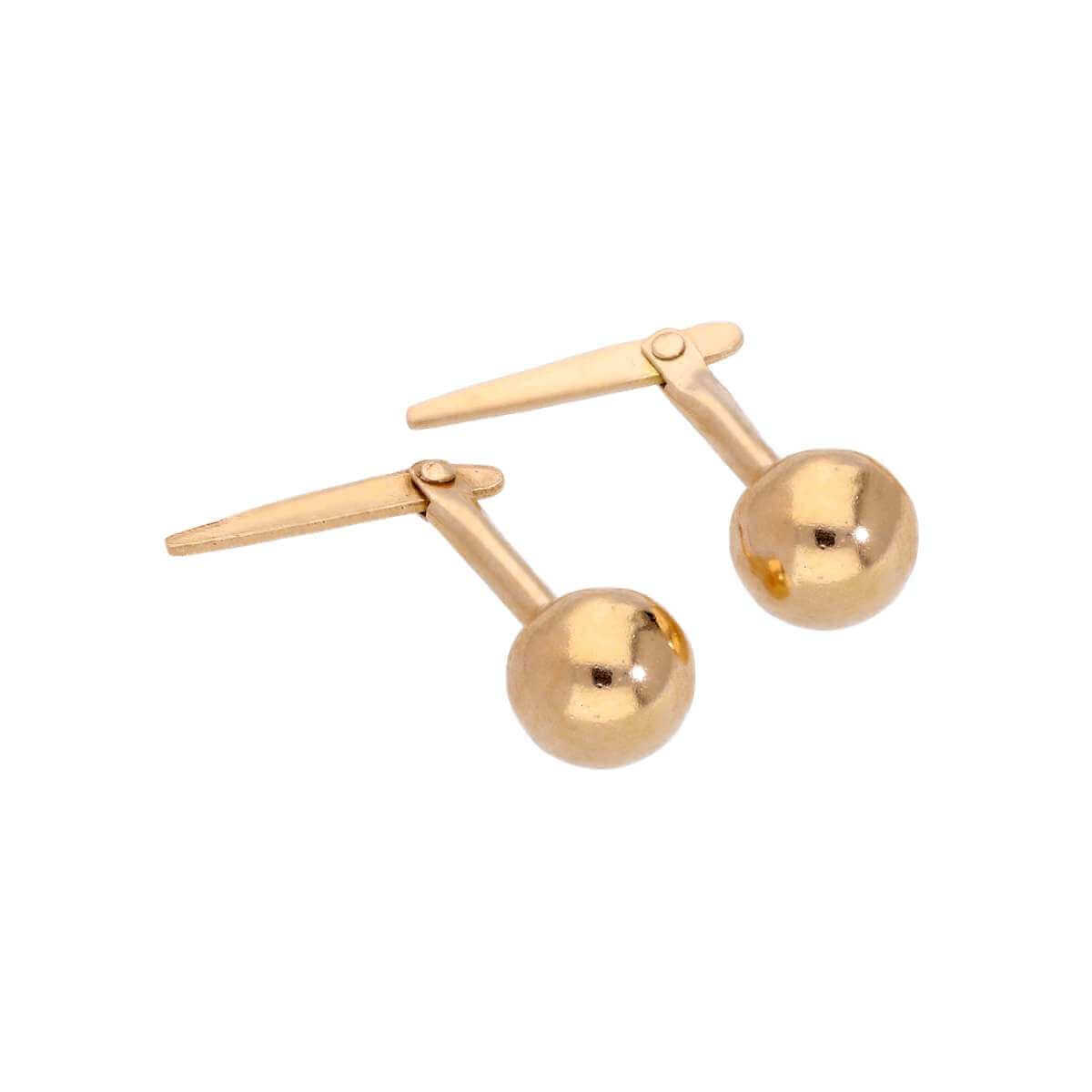 Gold Plated Sterling Silver 5mm Andralok Stud Earrings