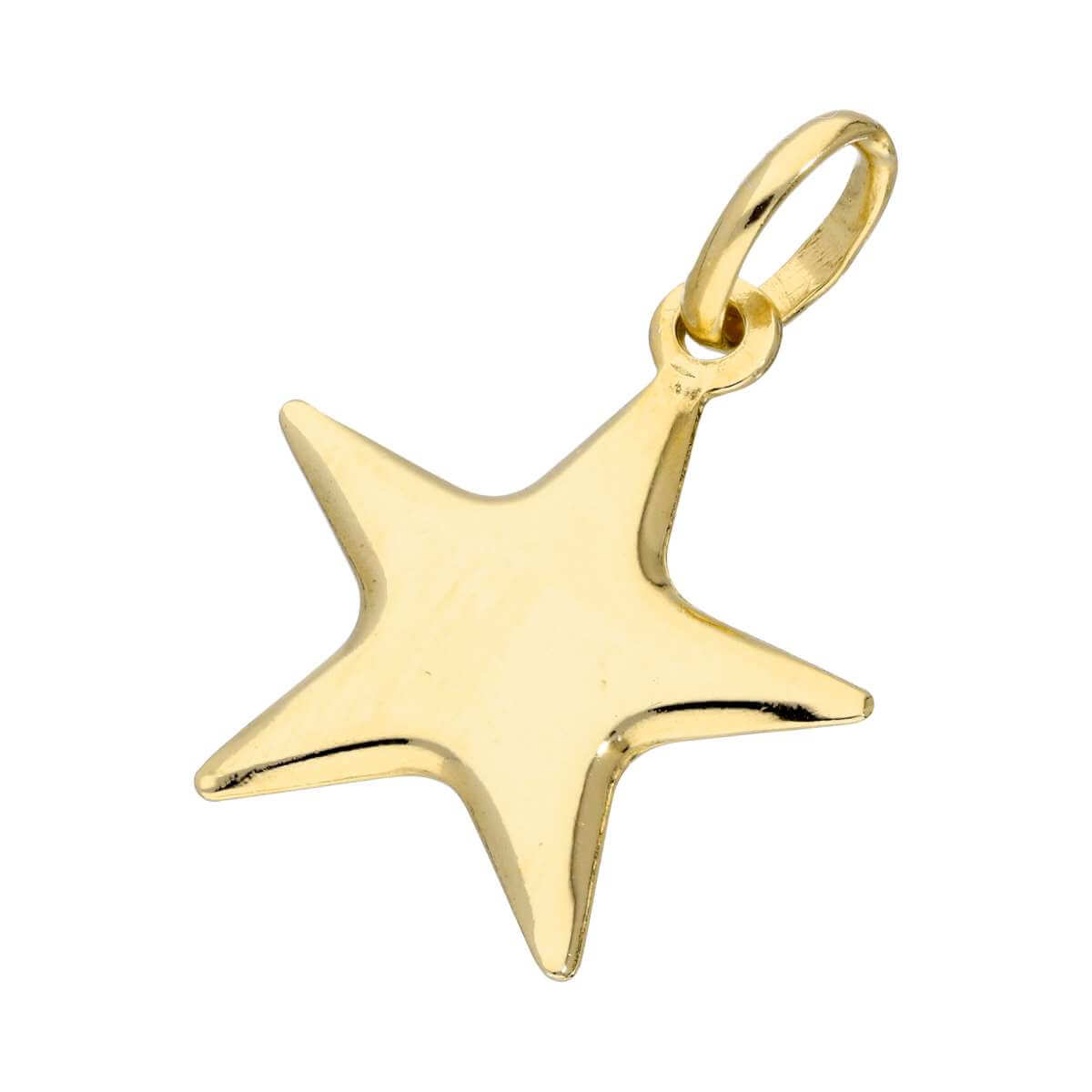 Gold Plated Sterling Silver Star Charm