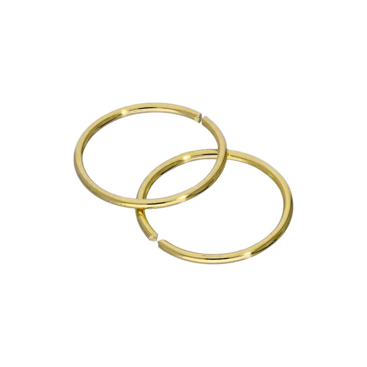 Gold Plated Sterling Silver 9mm Hoop Earrings