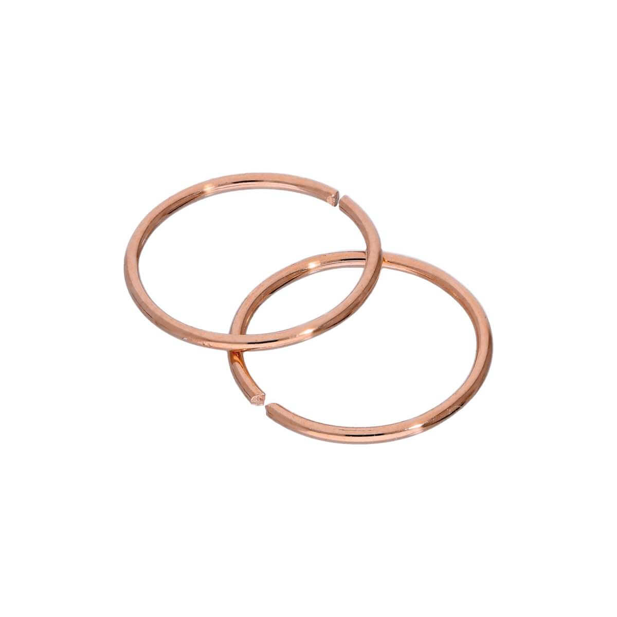 Rose Gold Plated Sterling Silver 9mm Hoop Earrings