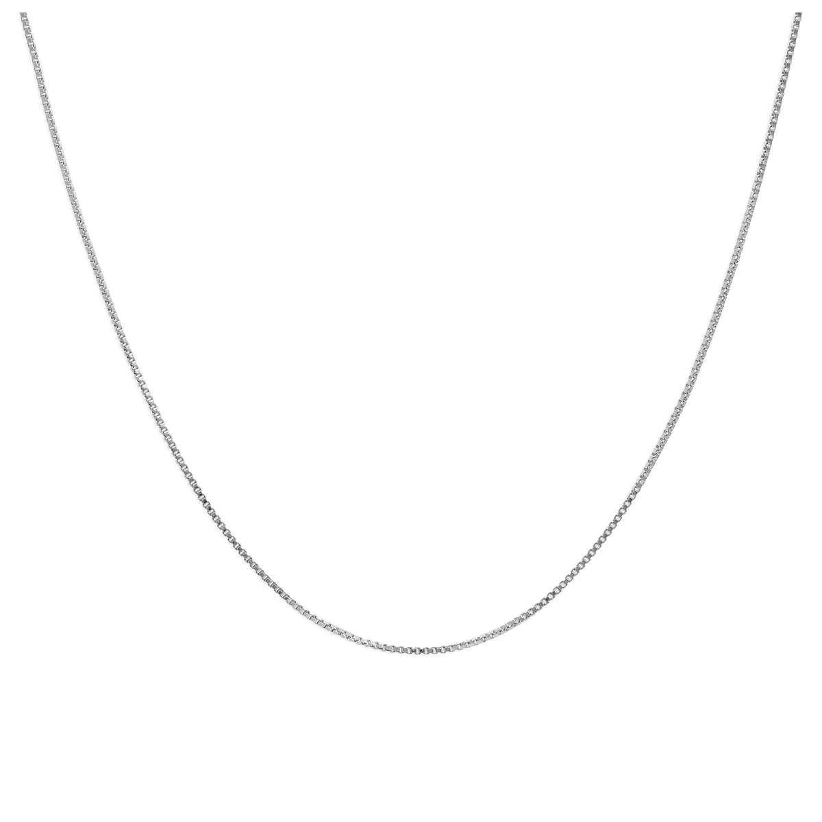 Sterling Silver Slider Clasp Box Chain any size up to 24 Inches