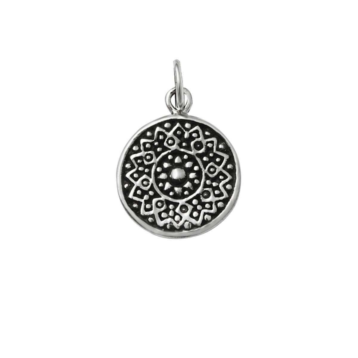 Sterling Silver Round Chakra Charm