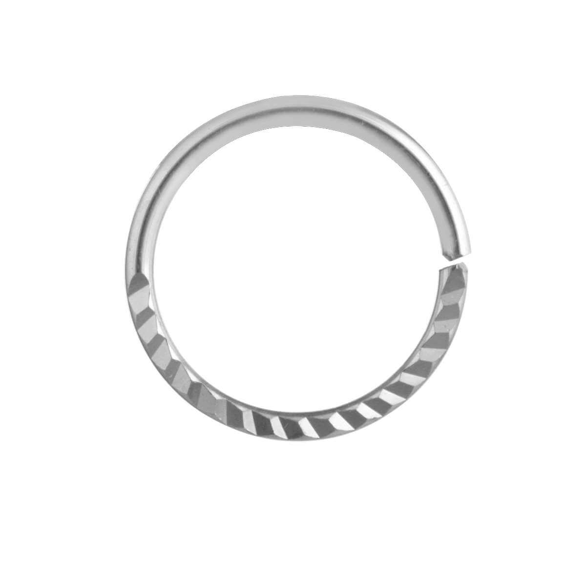 Sterling Silver Diamond Cut Nose Ring