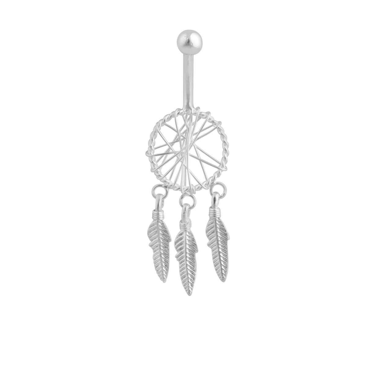 Sterling Silver Dreamcatcher Belly Bar
