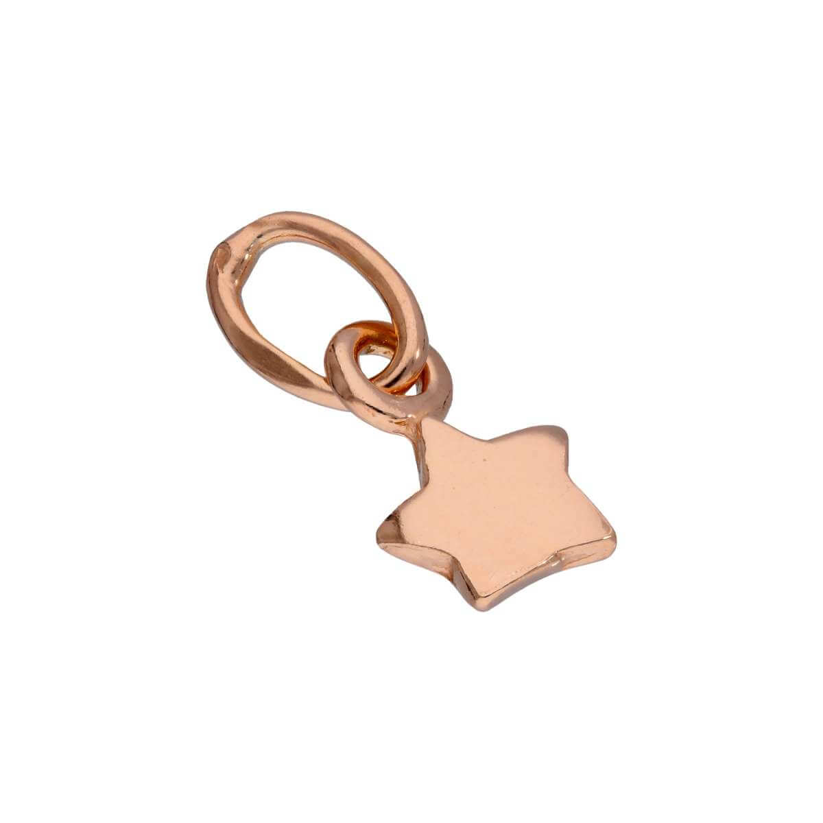 Rose Gold Plated Sterling Silver Tiny Star Charm