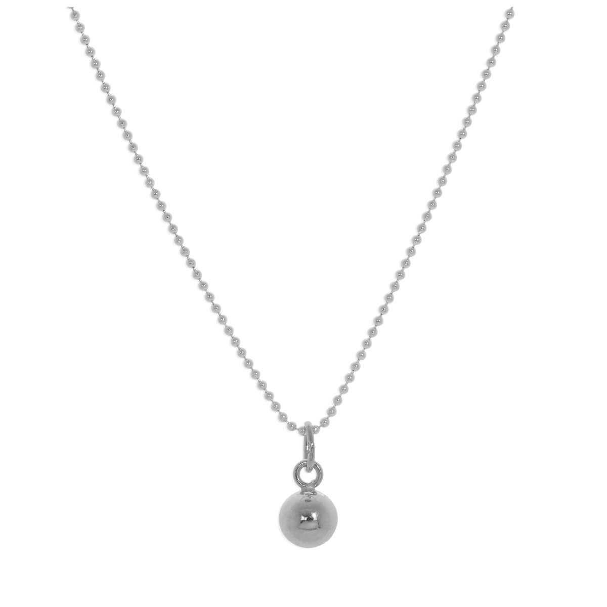 Sterling Silver Christmas Bauble Necklace - 14 - 22 Inches