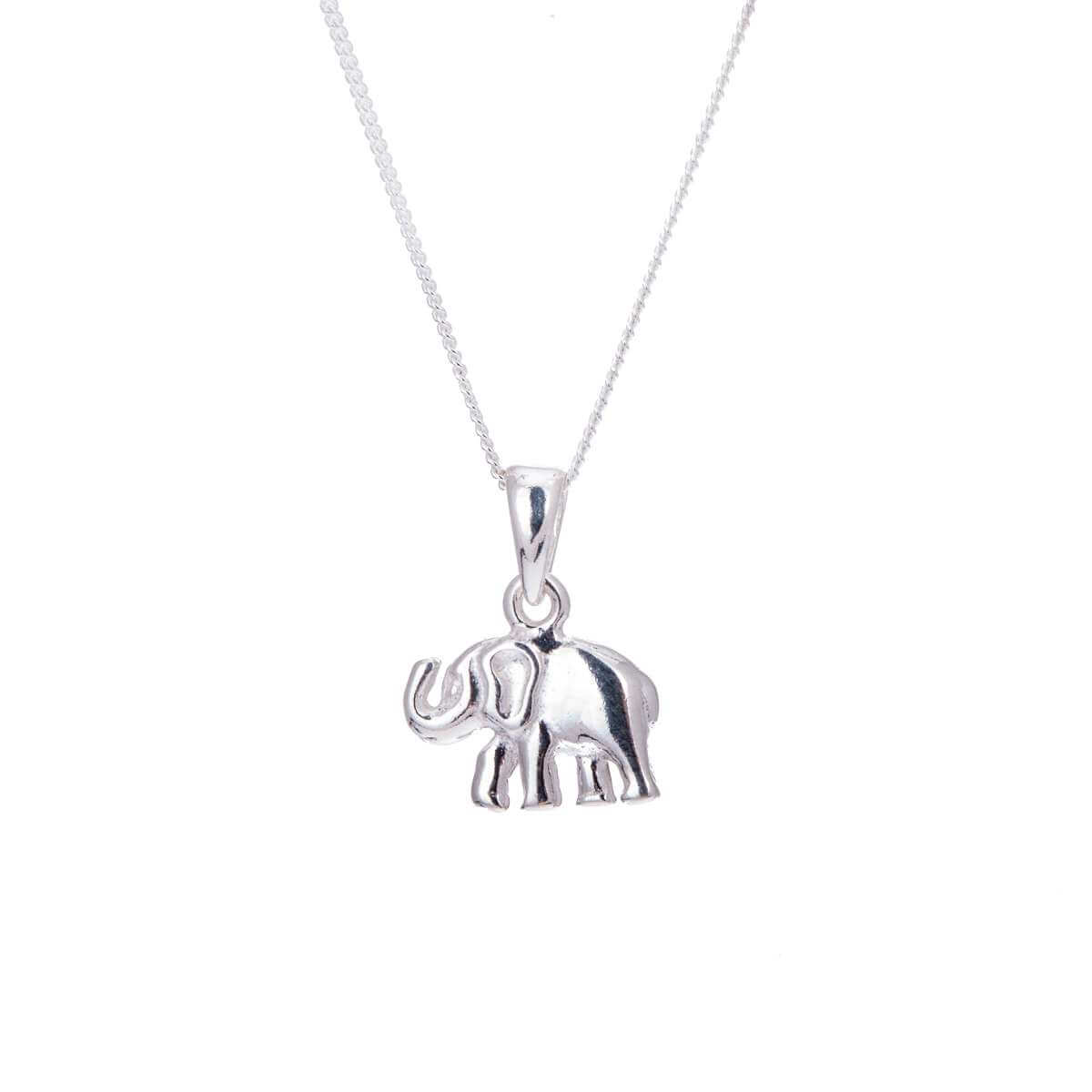 Sterling Silver Elephant Necklace - 14 - 32 Inches