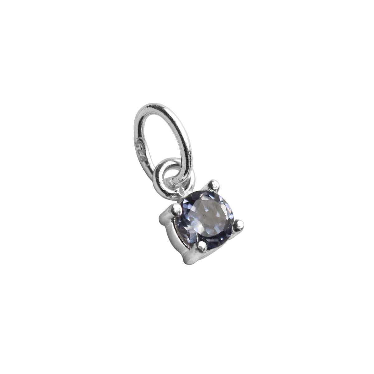 Sterling Silver Alexandrite CZ June Birthstone Claw Charm