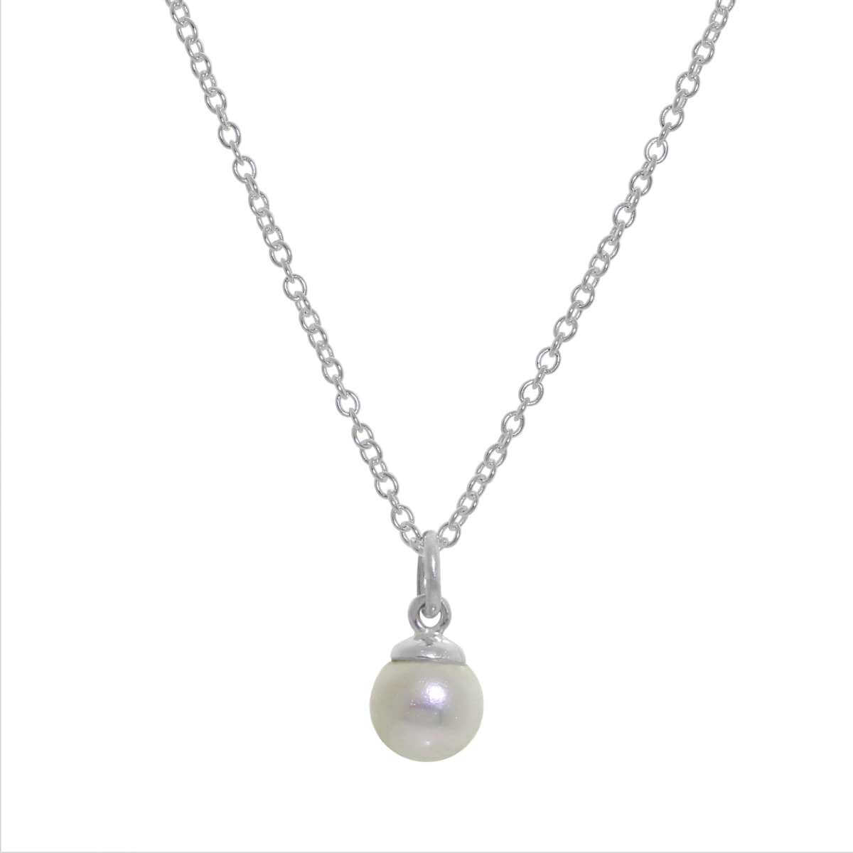 Sterling Silver & Freshwater Pearl Belcher Necklace 16 - 32 Inches