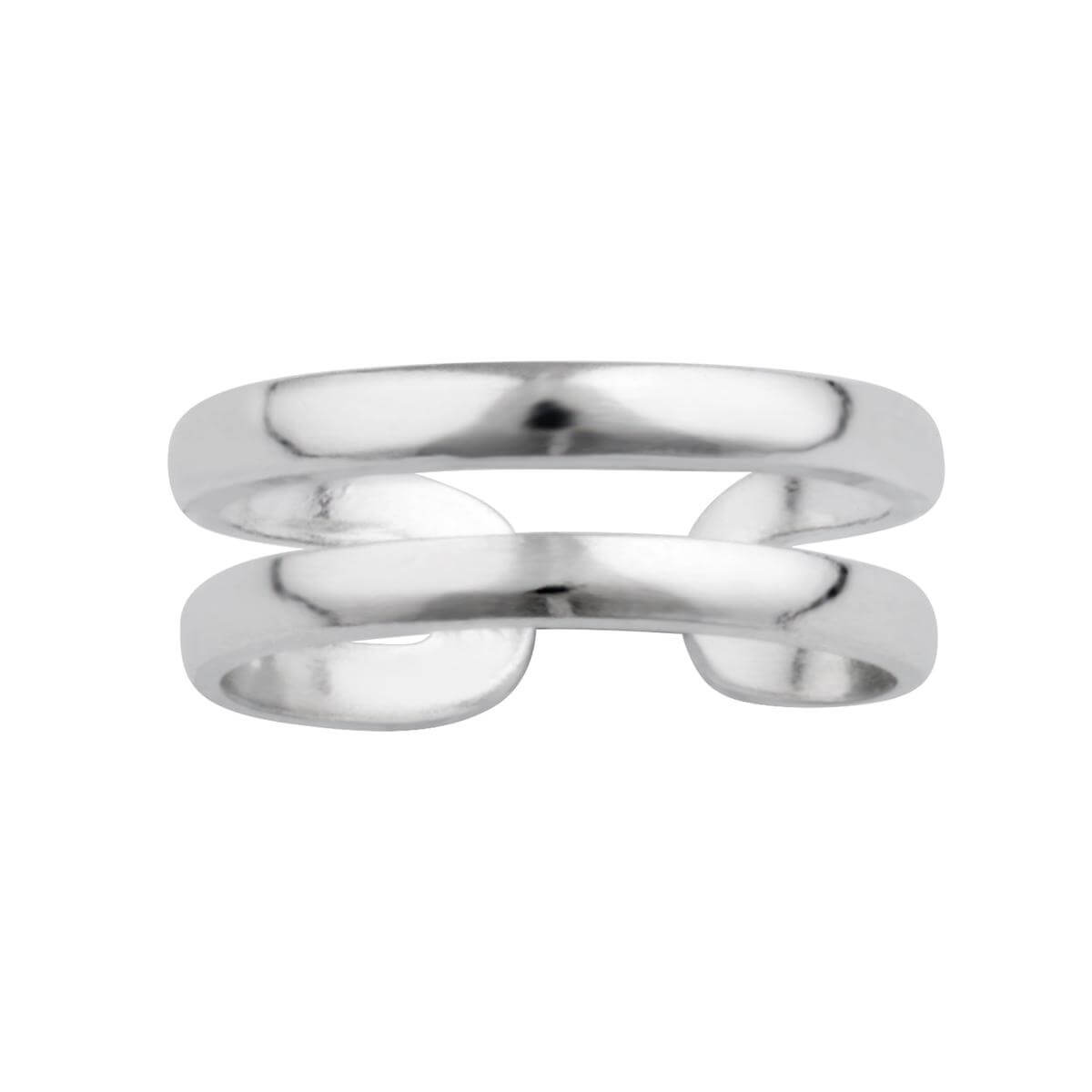 Sterling Silver Double Band Open Toe Ring