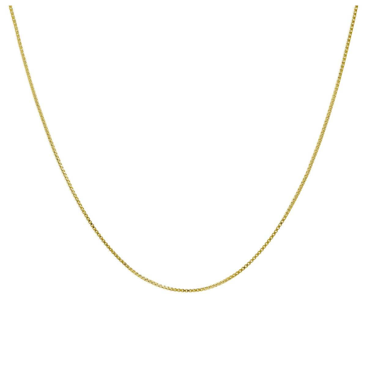 Gold Plated Sterling Silver Slider Clasp Box Chain up to 24 Inches