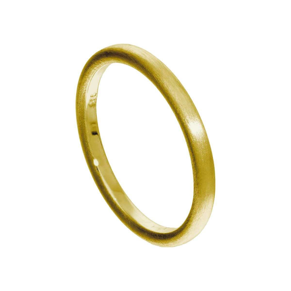 Small Gold Plated Sterling Silver Matt Finish Stacking Ring