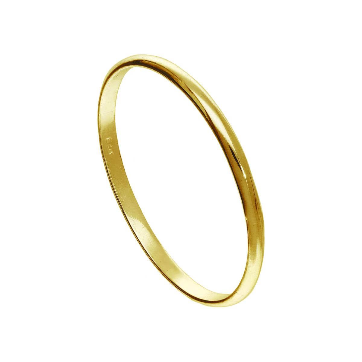 Small Gold Plated Sterling Silver 1mm Plain Stacking Ring