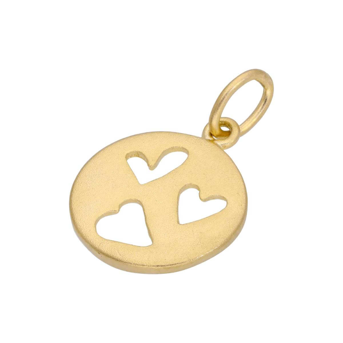 Gold Plated Small Sterling Silver Triple Heart Charm