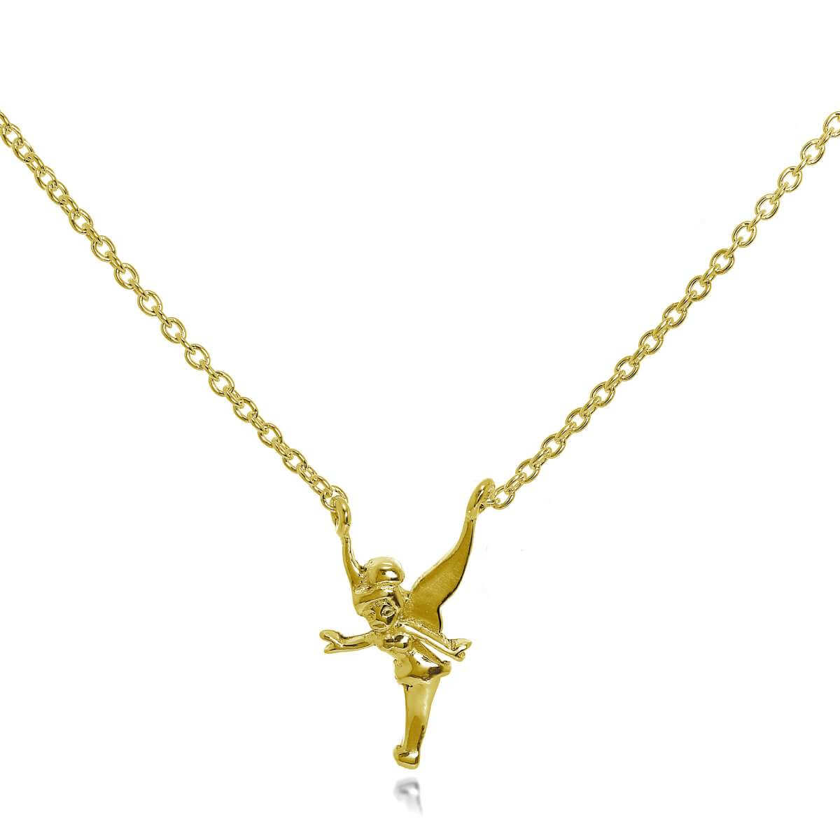 Gold Plated Sterling Silver Fairy Necklace 18 Inches
