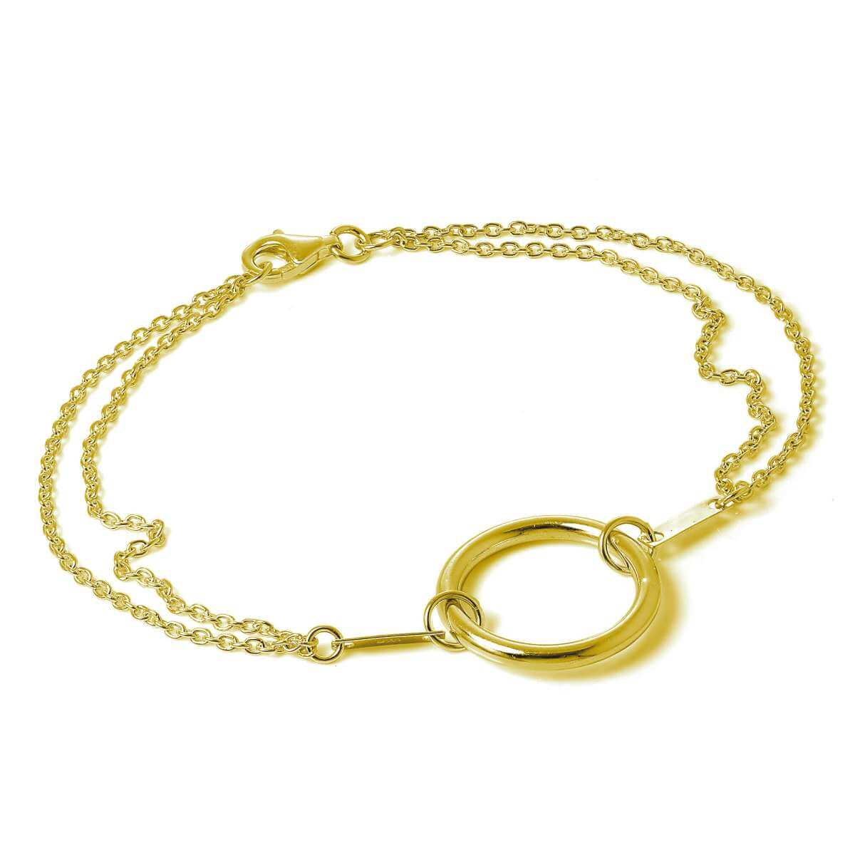 Gold Plated Sterling Silver Karma Infinity Circle Bracelet