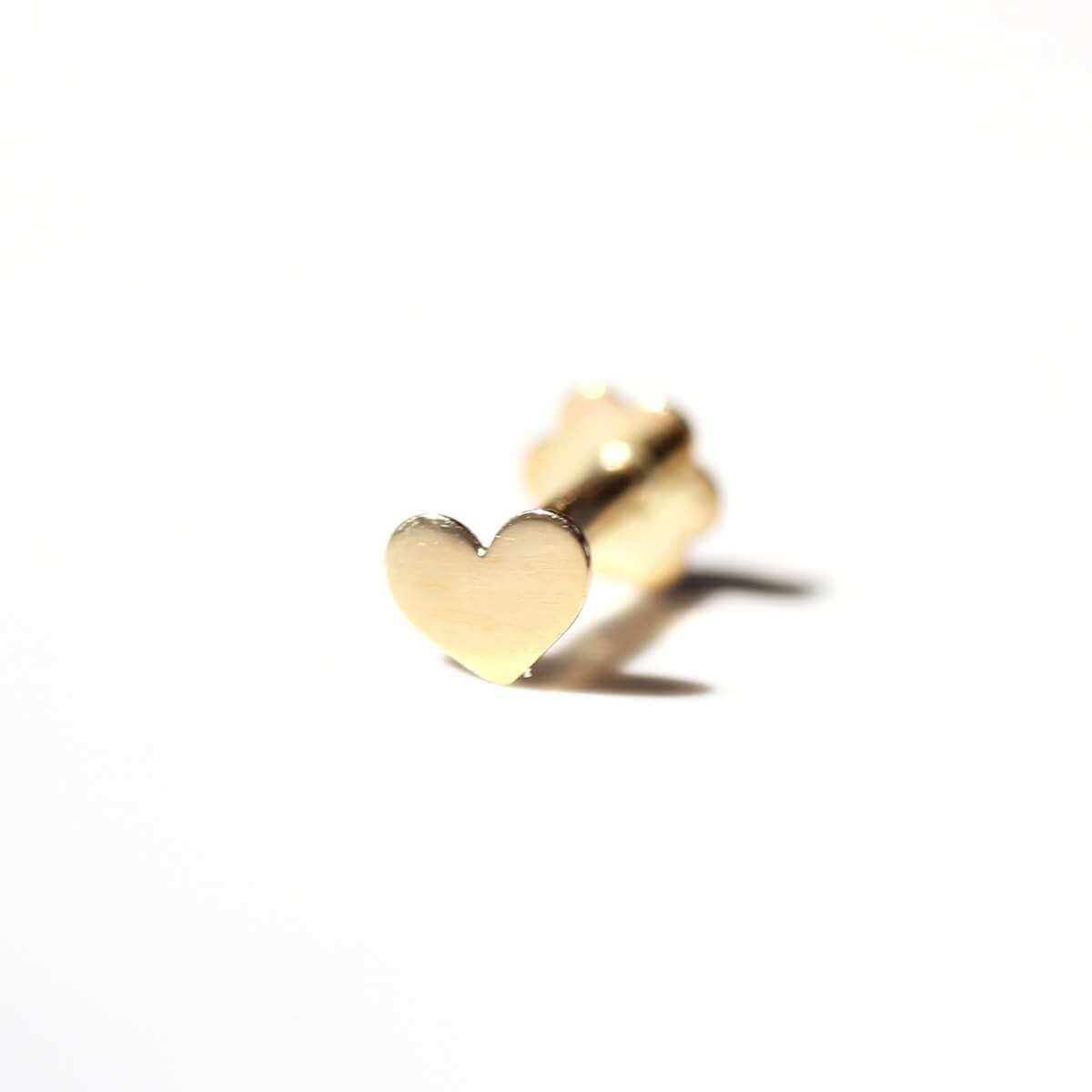 9ct Gold Heart Labret Cartilage Piercing